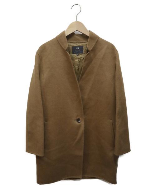23区(ニジュウサンク)23区 (ニジュウサンク) ソフトウールリバーコート キャメル サイズ:SIZE 32の古着・服飾アイテム