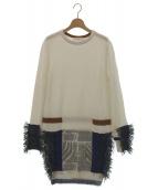 TOGA PULLA(トーガ プルラ)の古着「Mix jacquard knit dress」|オフホワイト