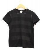 TAO COMME des GARCONS(タオ コムデギャルソン)の古着「ボーダープリントTシャツ」|ブラック