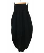 ISSEY MIYAKE FETE(イッセイミヤケ フェット)の古着「デザインスカート」|ブラック