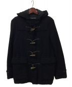 COMME des GARCONS HOMME(コムデギャルソンオム)の古着「ウール縮絨加工ダッフルコート」|ブラック