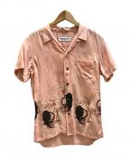RUDE GALLERY(ルードギャラリー)の古着「BLACK PANTHER ALOHA SHIRT」 ピンク
