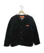 UNIVERSAL OVERALL(ユニバーサルオーバーオール)の古着「コーデュロイキルトジャケット」|ブラック