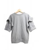 MIYAO(ミヤオ)の古着「フリルスウェット」|グレー