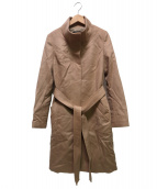 INDIVI(インディヴィ)の古着「ビーバースタンドカラーコート」 キャメル
