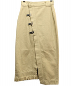 CIROI(シロイ)の古着「マリーナデニムラップスカート」|ベージュ