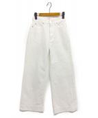 FRAY ID(フレイアイディー)の古着「ホワイトデニムパンツ」|ホワイト