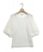 UN3D.(アンスリード)の古着「ボリュームスリーブブラウス」|ホワイト