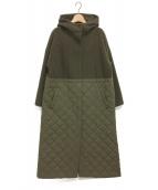 Soffitto(ソフィット)の古着「キルティング切替フードコート」|オリーブ