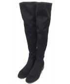 SNIDEL(スナイデル)の古着「ローヒールフィットニーハイブーツ」|ブラック