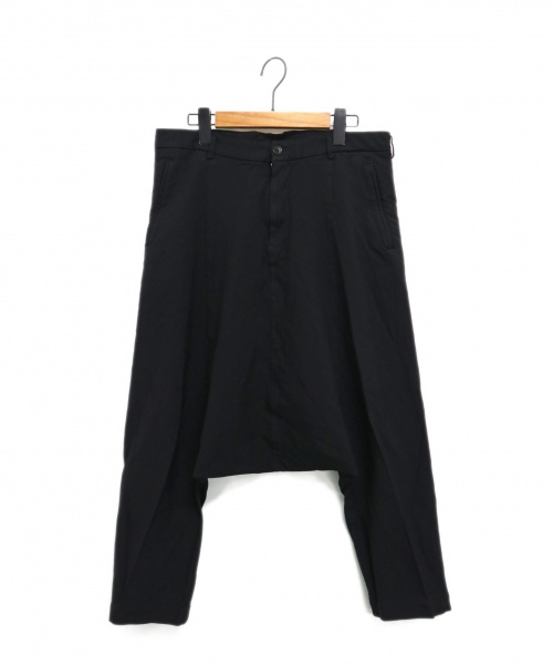 BLACK COMME des GARCONS(ブラックコムデギャルソン)BLACK COMME des GARCONS (ブラックコムデギャルソン) 09SS サルエルパンツ ブラック サイズ:Sの古着・服飾アイテム