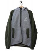 lucien pellat-finet(ルシアンペラフィネ)の古着「ウールニットジャケット」|グレー