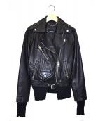 DIESEL(ディーゼル)の古着「レザーライダースジャケット」 ブラック