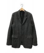 COMME des GARCONS HommePlus(コムデギャルソンオムプリュス)の古着「ヘリンボーン3Bジャケット」 グレー