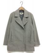 MM6(エムエムシックス)の古着「ウールワイドコート」|グレー