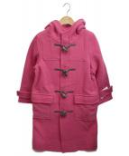 Mila Owen(ミラオーウェン)の古着「ロングダッフルコート」|ピンク