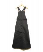 FRAY I.D×Dickies(フレイアイディー × ディッキーズ)の古着「サロペット」|ブラック