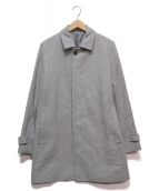 Calvin Klein(カルバンクライン)の古着「メルトンステンカラーコート」|グレー