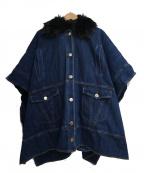 PINKO(ピンコ)の古着「JELLY MANETLLAポンチョコート」|インディゴ