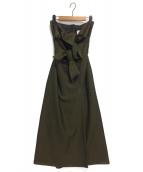 Ameri VINTAGE(アメリビンテージ)の古着「ダブルリボンベアドレス」