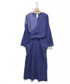TELA(テラ)の古着「ストライプワンピース」|ブルー