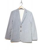 MAISON KITSUNE(メゾンキツネ)の古着「ジャケット」|ブルー×ホワイト