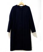 LAUTRE AMONT(ロートレアモン)の古着「ノーカラーソフトコクーンコート」|ブラック