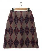 Sally Scott(サリースコット)の古着「Autumn Leaves起毛スカート / ダイヤモチーフジ」