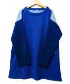 45R(フォーティファイブアール)の古着「アルルとフロートのミックスビッグチュニック」|ブルー