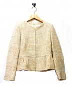 ANAYI(アナイ)の古着「ツイードセットアップスーツ」|ベージュ