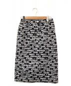 LEILIAN(レリアン)の古着「ジャガードタイトスカート」|ネイビー