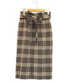 自由区(ジユウク)の古着「2WAYストレッチタイトスカート」|ブラウン
