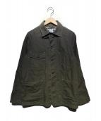 POST OALLS(ポストオーバーオールズ)の古着「カバーオール」 オリーブ
