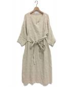 LOISIR(ロワズィール)の古着「たんぽぽ刺繍ワンピース」|アイボリー