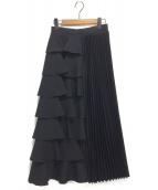 CLEANA(クリーナ)の古着「アシンメトリースカート」|ブラック