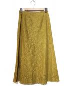 IENA(イエナ)の古着「フラワーレーススカート」|マスタード