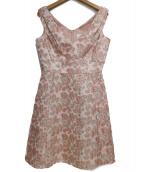 Kate Spade(ケイトスペード)の古着「ノースリーブワンピース」|ピンク