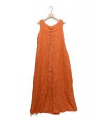 Liesse(リエス)の古着「リネンノースリーブワンピース」|オレンジ