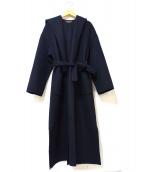 Loungedress(ラウンジドレス)の古着「リバーラップコート」|ブラック