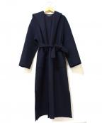 Loungedress(ラウンジドレス)の古着「リバーラップコート」 ブラック