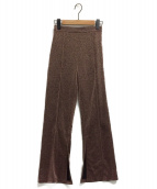 Ameri VINTAGE(アメリビンテージ)の古着「UNDRESSED TWINKLE PANTS」|ブラウン