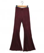 ALEXIA STAM(アリシアスタン)の古着「Rib Stretch Flare Pantsパンツ」|バーガンディー