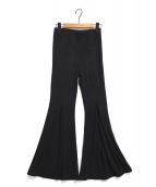 ALEXIA STAM(アリシアスタン)の古着「Rib Stretch Flare Pants」|ブラック