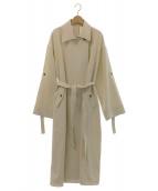 Ameri VINTAGE(アメリビンテージ)の古着「SOUFFLE OVER COAT」|オフホワイト