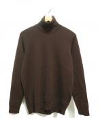 WRAPINKNOT(ラッピンノット)の古着「タートルネックニット」|ブラウン