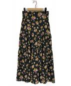 Lois CRAYON(ロイスクレヨン)の古着「パトリシアロングスカート」|ブラック