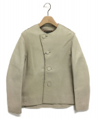 BRU NA BOINNE(ブルーナボイン)の古着「ホースハイドレプラジャケット」|ベージュ