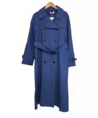 PLST(プラステ)の古着「ハイツイストコットントレンチコート」|ブルー