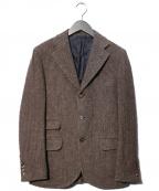 Salvatore Piccolo(サルヴァトーレ・ピッコロ)の古着「ツイード3Bジャケット」 ブラウン