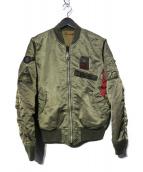 ALPHA(アルファ)の古着「リバーシブルMA-1ジャケット」|カーキ
